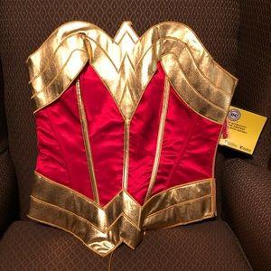 Wonder Woman Lace Up Corset NWT